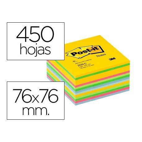 Post-it ® Bloc de notas adhesivas varios colores 450 hojas quita y pon