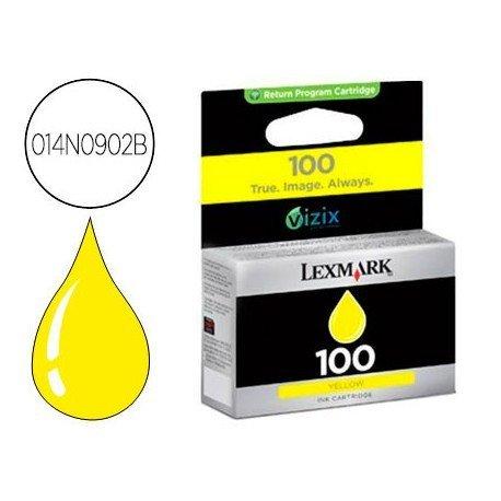 Ink-jet Lexmark 100 BC BL (014N0902B) amarillo