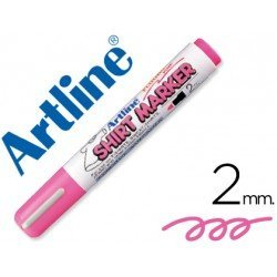 Rotulador para tela textil Artline color rosa