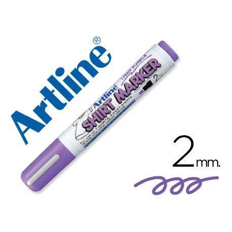 Rotulador para tela textil Artline color violeta fluor