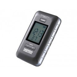 Radio Daewoo digital pantalla lcd retroiluminada memoria am y fm alarma despertador