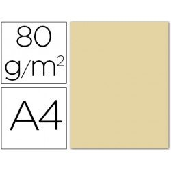 Papel color Liderpapel color crema A4 80g/m2