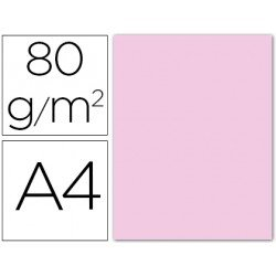 Papel color Liderpapel color rosa pastel A4 80g/m2 15 hojas