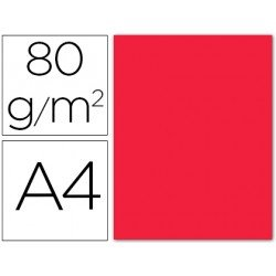 Papel color Liderpapel color rojo A4 80g/m2