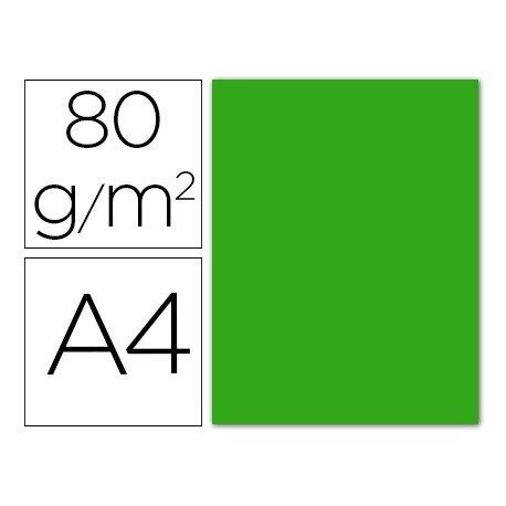 Papel color Liderpapel color verde A4 80g/m2