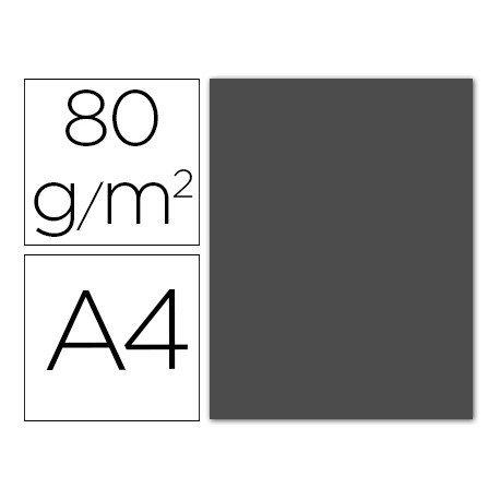Papel color Liderpapel color gris oscuro A4 80g/m2