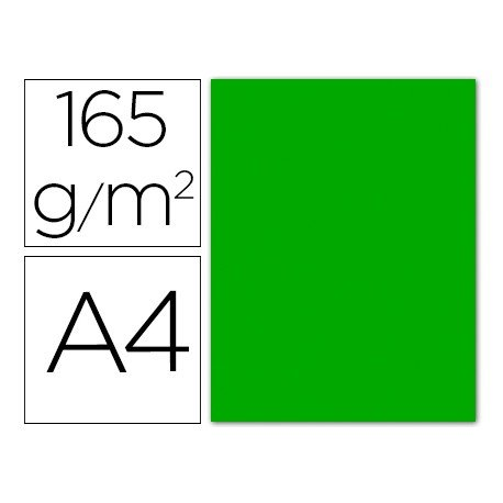 Papel color Liderpapel color verde A4 165g/m2