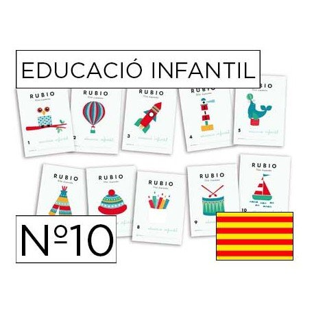 Cuaderno Rubio infantil Nº 10 Catalan