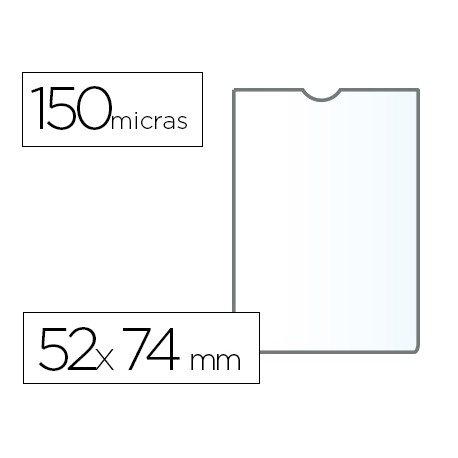 Funda portadocumento Q-connect din A8 150 micras pvc transparente con uñero