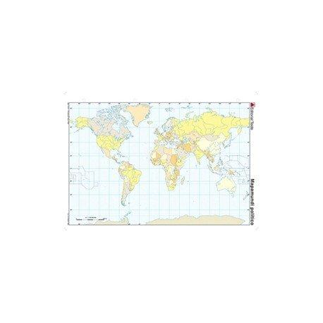 Mapa mudo del Planisferio politico