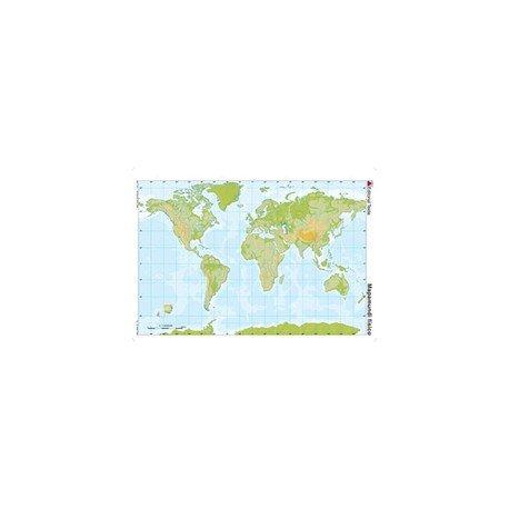 Mapa mudo del Planisferio fisico