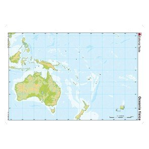 Mapa Mudo De Oceania Fisico 24599 Materialescolar Es