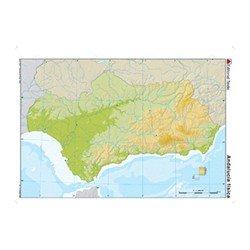 Mapa mudo de Andalucía físico