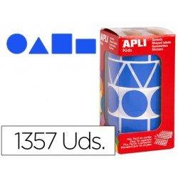 Gomets Apli Figuras geométricas color Azul XL