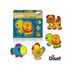 Puzzle a partir de 3 años Formas animales 14 piezas Diset