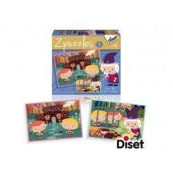 Puzzle a partir de 3 años Cuenta la casita de Chocolate 2x48 piezas Diset