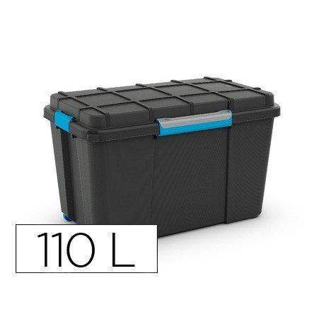 Contenedor plastico marca Cep 110 litros con 4 asas y ruedas