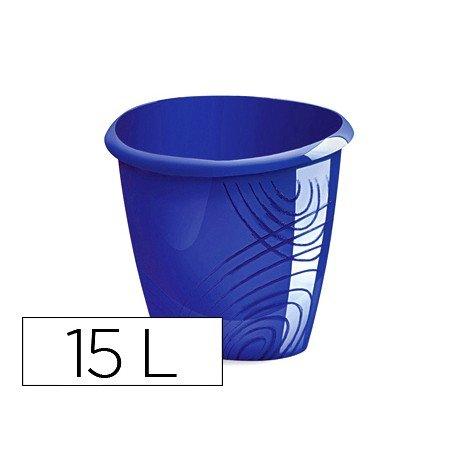 Papelera plastico Cep azul de 15 litros
