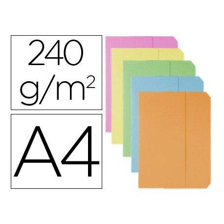 Subcarpeta cartulina Vip Fast-Paperflow Din A4 bolsa y solapa pastel