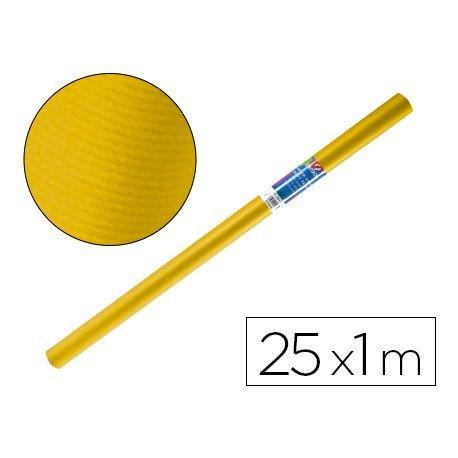 Bobina papel tipo kraft Liderpapel 25 x 1 m amarillo oro