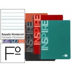 Bloc Liderpapel serie Inspire Folio rayado montessori 3,5 mm