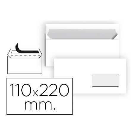 Sobre Americano Liderpapel N3 Blanco 110 x 220 mm Caja 25