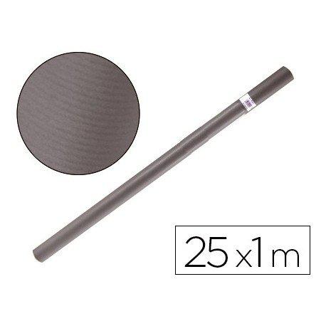 Bobina papel tipo kraft Liderpapel 25 x 1 m gris ferro