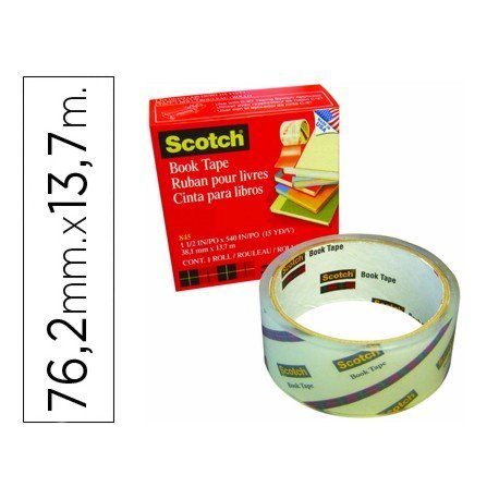 Cinta adhesiva Scotch Book Tape