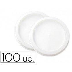 Tapa de plastico plana para vaso