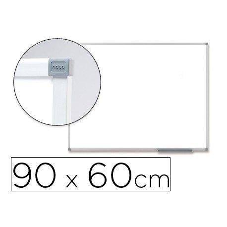 Pizarra Blanca Vitrificada Magnetica con marco de aluminio 90x60 Nobo