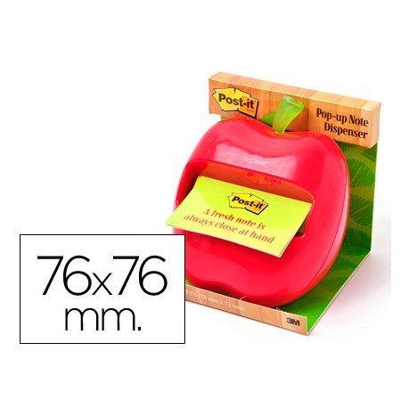 Dispensador bloc notas adhesivas quita y pon Post-it ® manzana
