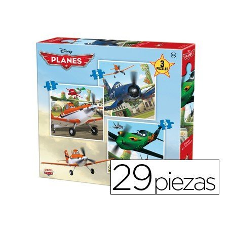 Puzzle marca Anadel 3 en 1 Aviones