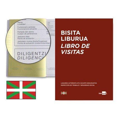 Libro Liderpapel idioma euskera A4 Registro de visitas