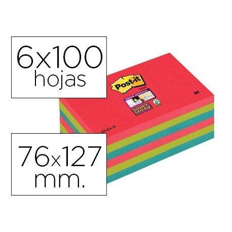 Bloc notas quita y pon Post-it ® super sticky 76 x 127 mm