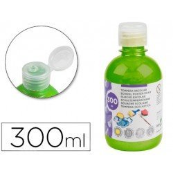 Tempera Liderpapel color verde fluorescente 300 cc