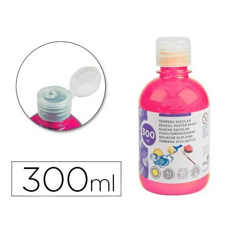 Tempera Liderpapel color rosa fluorescente 300 cc