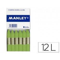 Lapices de cera Manley unicolor verde dorado