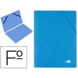 Carpeta Liderpapel gomas carton prespan folio sencilla azul