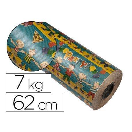Bobina papel tipo kraft Impresma 62 cm 7 kg motivo infantil 4264