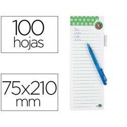 Bloc notas imantado marca Liderpapel lista de la compra con bolígrafo