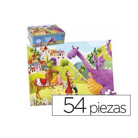Puzzle a partir de 4 años Principe y dragon Goula