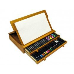 Estuche pintura marca Stetro madera cofre