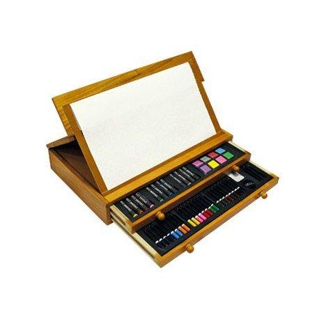 Estuche pintura marca Lidercolor madera cofre 100 piezas