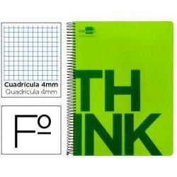 Bloc Folio Liderpapel serie Think cuadricula de 4 mm verde