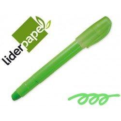 Marcador de cera gel Liderpapel verde