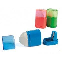 Sacapuntas Liderpapel de plastico con goma
