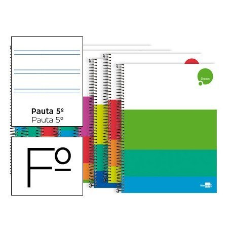 Bloc marca Liderpapel Folio serie Dream pauta 2,5mm