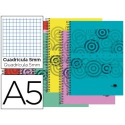 Bloc marca Liderpapel Din A5 Imagine cuadricula 5 mm surtidos