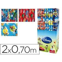 Papel fantasia marca Liderpapel Disney niño 70 cm x 2 m