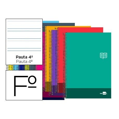 Bloc Folio marca Liderpapel serie Discover pauta 3.5 mm